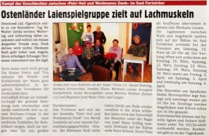 Vorbericht Delbrücker Stadtpost vom 06.04.2014