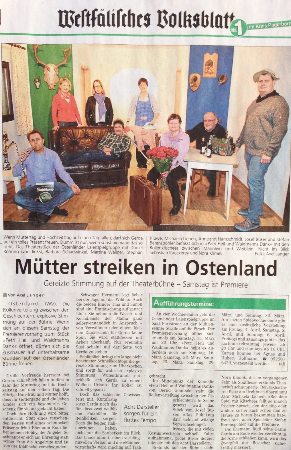 Mütter streiken in Ostenland